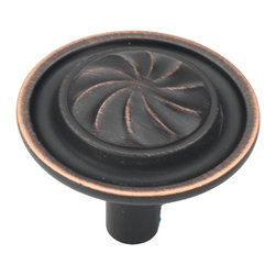 Hickory Hardware - Hickory Hardware 1-1/4 In. Roma Vintage Bronze Cabinet Knob - Classic lines, finishes and styles create a warm and comforting feel.  Usually 18th-century English, 19th-century neoclassic, French country and British Colonial revival.  Use of classic styling and symmetry creates a calm orderly look.