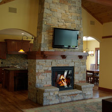 Traditional Living Room by Highland Builders LLC