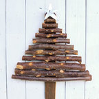 Souvenir Farm, Ltd. - Rustic Christmas Tree Handcrafted from Reclaimed Tree Branches - As important as a warm bowl of Apple Brown Betty by a roaring fire, your rustic Christmas decor wouldn't be complete without a Christmas tree handmade from reclaimed tree branches. This unique tree is a true conversation piece that will also set the refined, yet primitive tone of your Christmas decor for the cabin, mountain or lake home.