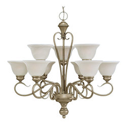 Millennium Lighting - Millennium Lighting 679 Devonshire 9 Light Two Tier Chandelier - Features: