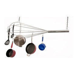 Enclume - Premier Giant Whisk Pot Rack - Dimensions: 54 x 18 x 18 inches