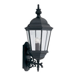"Designer Fountain - Builder Cast Aluminum 13"" Wall Lantern - 13 inches cast wall lantern"