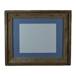 barnwood4u - Repurposed picture frame 11x14 with mat for 8x10 or 8x12 - Repurposed wood frame with beautiful wood grain and a deep natural patina