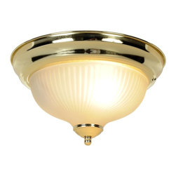 Premier Faucet - Swirl 10.9 x 6 inch Ceiling Light - Polished Brass - Premier 671351 10-7/8in. D by 6in. H Decorative Ceiling Fixture, Polished Brass Finish Features: Surface mount. Flush mount decorative ceiling light fixture, polished brass accents. 10-7/8in. width, 6in. height. Uses 1 75-watt light medium base bulb (not included). UL listed light fixture.