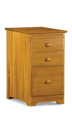 Atlantic Three Drawer File Cabinet - Caramel Latte - Make your office more organized using the Atlantic Three Drawer File Cabinet - Caramel Latte to bring order in your working space. It's caramel latte finish adds to the office decor. The file cabinet has solid hardwood construction with durable dovetail joinery, and enables you to store a variety of office stationery and important documents in its three drawers. Besides, the large lower drawer comes with built-in hanging file carriers that run on metal glides.About Atlantic FurnitureFounded in 1983 as Watercraft, Inc., Atlantic Furniture started as a manufacturer of pine waterbed frames. Since then, the Springfield, Mass.-based company has expanded to Fontana, Calif. The company has moved away from the use of pine and now specializes in imported furniture made of the wood of rubber trees.