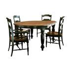 Hooker Furniture - Hooker Furniture Indigo Creek Oval Dining Table in Rub-Through Black - Hooker Furniture - Dining Tables - 33275200