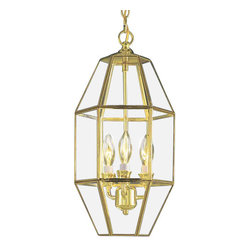 "Volume Lighting - Volume Lighting V5061 3 Light 18.5"" Height 1 Tier Chandelier with Clear Bound In - Three Light 18.5"" Height 1 Tier Chandelier with Clear Bound In Solid Brass Glass ShadeAdorn your home d�cor with this stunning 6 light chandelier featuring 1 tier and classy clear beveled glass found in solid brass.Features:"