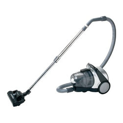 "Panasonic - Panasonic Bagless Vacuum Canister - Power switch on handle. Curved handle for comfort use. 360 degree hose swivel. Wand extends for added reach. Crevice tool and dusting brush ""on board."" 10 AMP motor. ""JET TURN"" radius design base."