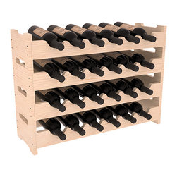 24 Bottle Mini Scalloped Wine Rack in Pine with Satin Finish - Stack four 6 bottle racks for proper storage of 24 wine bottles. This rack requires light hardware for assembly and is ready to use as soon as it arrives. Makes the perfect gift and stores wine on any flat surface.