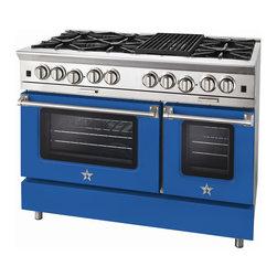 "BlueStar Platinum Series: 48"" Range - 48"" BlueStar Platinum Range in Sky Blue (RAL 5015)"