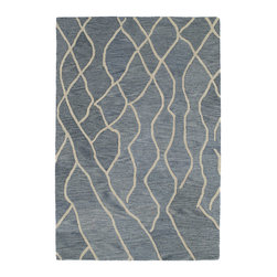 "Kaleen - Kaleen Casablanca Collection CAS03-75 2'6"" x 8' Grey - Casablanca brings subtle Moroccan design and inspiration to a warm and calming retreat. Simplistic, geometric, and transitional designs, combined with a soothing and natural color pallet, will turn each room into a new magical oasis. 100% Wool, Hand Tufted in India"