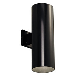 "Progress Lighting - Progress Lighting 6"" Aluminum Cylinder Outdoor Wall Sconce X-13-2465P - Those looking for a clean and purely functional design will be pleased with this Progress Lighting outdoor wall sconce. The six inch cylindrical shape is available in your choice of a White, Black, Antique Bronze or Metallic Gray finish, allowing you to customize this light fixture to match the look and color palette of your home's exterior. Powder coat finish. UL listed for wet locations. Specify PG-P8798-31 top cover lens for use in wet locations."