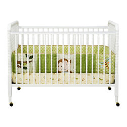 Da Vinci - DaVinci Jenny Lind 3-in-1 Stationary Convertible Mobile Wood Crib in White - Da Vinci - Cribs - M7391W - The Jenny Lind crib is just right for baby. As a DaVinci original the Jenny Lind has been reengineered for safety and convenience. That's twenty years in the making. Jenny is just right. A truly timeless classic our Jenny Lind Crib is a beautifully crafted crib styled with detailed spindles throughout. Furnish your complete nursery with any of the Jenny Lind changer.