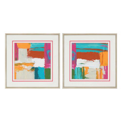 Paragon - Neon City II PK/2 - Framed Art - Each product is custom made upon order so there might be small variations from the picture displayed. No two pieces are exactly alike.