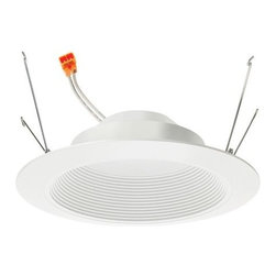 """Juno - 6"""" Basic LED Retrofit Baffle Trim by Juno - A fully dimmable replacement for a standard incandescent or halogen trim, the Juno Lighting 6"""" Basic LED Retrofit Baffle Trim saves you money every time you turn it on. The included medium socket connector makes for an easy and quick installation as well, and the clean, White finish ensures it fits with nearly any decor. Rated for wet locations, this trim can even be used outdoors in covered ceilings. Since 1976, Juno Lighting has been """"lighting the way"""" with award-winning recessed and track lighting. Juno established its reputation with the Trac-Master track lighting system and grew from there. Today, the Juno Lighting Group is comprised of seven industry leading brands, including Juno, Aculux and Alfa."""