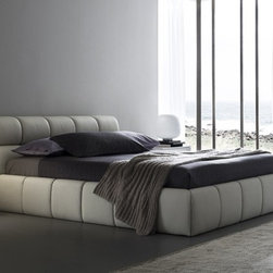 Rossetto Furniture - Cloud King Size Platform Bed - T411602375N10 - Cloud Collection King Size Bed