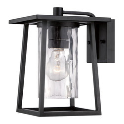 Quoizel Lighting - Quoizel LDG8408K Lodge 1 Light Outdoor Wall Light, Mystic Black - Outdoor wall mystic blck