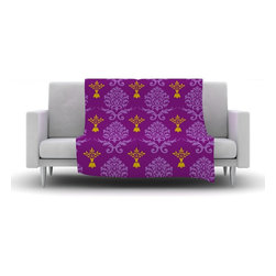 """Kess InHouse - Nicole Ketchum """"Purple Crowns"""" Fleece Blanket (30"""" x 40"""") - Now you can be warm AND cool, which isn't possible with a snuggie. This completely custom and one-of-a-kind Kess InHouse Fleece Throw Blanket is the perfect accent to your couch! This fleece will add so much flare draped on your sofa or draped on you. Also this fleece actually loves being washed, as it's machine washable with no image fading."""