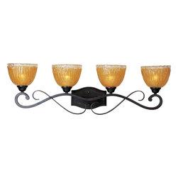 Maxim Lighting - Maxim Lighting 13424AIOI Barcelona Oil Rubbed Bronze 4 Light Vanity - 4 Bulbs, Bulb Type: 100 Watt Incandescent