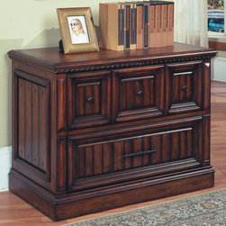 Barcelona 2 Drawer Lateral File in Antique Walnut finish - Photo by Parker House, file cabinet @ http://www.dynamichomedecor.com/Parker-House-BAR-475.html