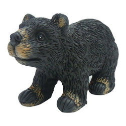 Alpine - Black Bear Garden Statue - These cute black bear statuaries will add character to your garden, patio or home. These hand crafted statues give the look of real black bears with life like features as if a real black bear slipped through your back door.Features: