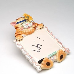 "ATD - 9 Inch ""Forger Me Not"" Tiger with Flower Design Memo Board - This gorgeous 9 Inch ""Forger Me Not"" Tiger with Flower Design Memo Board has the finest details and highest quality you will find anywhere! 9 Inch ""Forger Me Not"" Tiger with Flower Design Memo Board is truly remarkable."