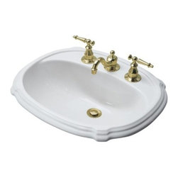 "KOHLER - KOHLER K-2189-4-0 Portrait Self-Rimming Lavatory with 4"" Centers - KOHLER K-2189-4-0 Portrait Self-Rimming Lavatory with 4"" Centers in White"