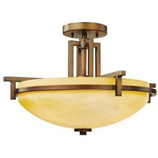 Bathroom Vanity Lighting Roxbury Semi-Flushmount by Dolan Designs