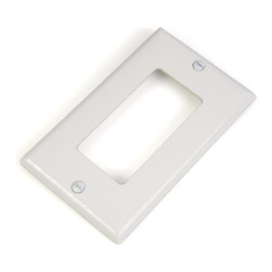 LVDx-WP LED Wallplate for Standard Wall Switch Box - Durable plastic Low Voltage Dimmer Wall Plate. Fits standard 1-gang switch box. Color-matched metal mounting screws included. Compatible with LVD-60W and SLVD-60W Wall Switch Box LED Dimmers. Available in white and almond finish.