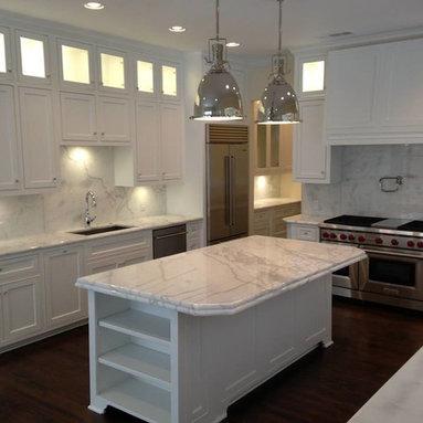 Kitchens - Bianco Levantina marble kitchen.  white marble, marble kitchen, Levantina, white marble kitchen, Bianco Levantina