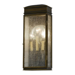 Murray Feiss - Murray Feiss Whitaker Outdoor Wall Mount Light Fixture in Astral Bronze - Shown in picture: Whitaker Outdoor Lantern - Wall Bracket in Astral Bronze finish