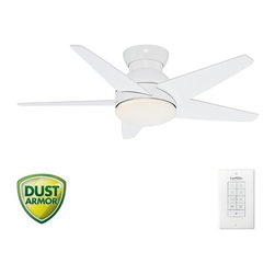 "Casablanca - Casablanca 59018 Isotope 44"" 5 Blade Flush Mount Ceiling Fan - Blades and Light - Included Components:"