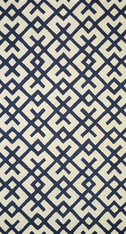 """Loloi Rugs - Loloi Rugs Weston Collection - Ivory / Navy, 5'-0"""" x 7'-6"""" - Feast your eyes on this. Hand-tufted in India of 100% wool, the tastefully designed Weston Collection features vibrant colors and bold, graphic patterns that instantly uplift the mood of your room. What's more, each Weston rug is crafted with a combination of colorful cut pile and ivory loops - adding a sense of depth and drama to these amazingly textural rugs."""