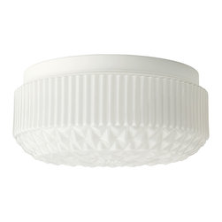 Vanadin Ceiling/Wall Lamp, White - It's the little things. This affordable flushmount would easily perk up a small space, like a bathroom, laundry room or mudroom.