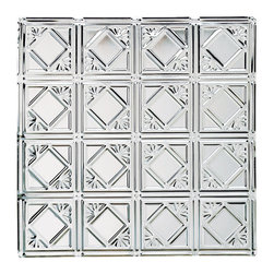 Renovators Supply - Ceiling Tiles Tin Plated Steel Tin Ceiling Tile Diamond 2 x 2 ft. - Tin Ceiling Tiles. Diamond Tin Ceiling Panels: One of the most popular historical geometric tin ceiling tiles, it can be used for nail-up  or drop-in ceilings, or even as a  backsplash.  Tin is rust-resistant, low maintenance & acts as a fire retardant, a safety feature for all homes. It can be painted to match any d��_cor or left as is. Match it with our Filler Panels #19219 to bridge the gap between field panels & the ceiling perimeter or cornice  perimeter. Measures 2 feet by 2 feet in addition to a ��_��___ inch lip all around for overlapping.