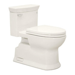 TOTO - TOTO MS964214CEFG#11 Eco Soiree Elongated One Piece Toilet with Sanagloss, Colon - TOTO MS964214CEFG#11 Eco Soiree Elongated One Piece Toilet with Sanagloss, Colonial White When it comes to Toto, being just the newest and most advanced product has never been nor needed to be the primary focus. Toto's ideas start with the people, and discovering what they need and want to help them in their daily lives. The days of things being pretty just for pretty's sake are over. When it comes to Toto you will get it all. A beautiful design, with high quality parts, inside and out, that will last longer than you ever expected. Toto is the worldwide leader in plumbing, and although they are known for their Toilets and unique washlets, Toto carries everything from sinks and faucets, to bathroom accessories and urinals with flushometers. So whether it be a replacement toilet seat, a new bath tub or a whole new, higher efficiency money saving toilet, Toto has what you need, at a reasona