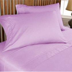 SCALA - 600TC Solid Lilac Twin XL Flat Sheet & 2 Pillowcases - Redefine your everyday elegance with these luxuriously super soft Flat Sheet . This is 100% Egyptian Cotton Superior quality Flat Sheet that are truly worthy of a classy and elegant look.