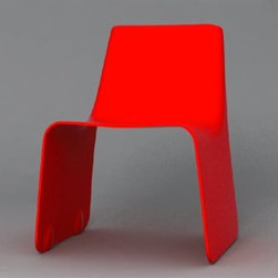Orange22 - Orange22 Carbon Red Slip Dining Side Chair - The carbon collection utilizes advanced ! aerospace technologies to sculpt space! ready limited-edition furniture. Carbon Collection is an aero-space inspired line of ultra-luxury limited-eddition furniture by designer Dario Antonioni. His love affair with all things aviation began at the age of 10 when he built his first model airplane. Today Antonioni utilizes 21st century technology to craft super strong and light-weight concepts made entirely of carbon fiber. Each piece is manufactured in California by the same talented engineers that build military aircraft and space rockets.Orange22 is an eco-friendly brand offering with internationally renowned designers committed to social responsibility. Leveraging a green approach to just-in-time manufacturing and online business efficiencies they are committed to reducing environmental impact while benefiting social causes. Features include Designed by Dario Antonioni Edition of 500 / Signed. Specifications Color : Red Material: Color Infused Fiberglass.