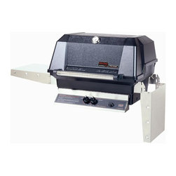 "MHP Grills - 40000 BTU LP Gas Grill Head w Stainless Cooking Grids - Total cooking area: 642 sq. in.. 40,000 BTU rated per-hour input. 0.31 in. 2-Piece stainless steel cooking grid. Stainless steel swing-away warming rack. High profile lid to handle all rotisserie functions, accommodating large cuts of meats and big Tom turkeys . Stainless steel fold down shelves. Lifetime warranty on all grill housing, mounting, burners, cooking grids and warming racks. 5-Year warranty on infrared burners, venturi tubes and flavor master briquettes. 1-Year warranty on all other components. Assembly required""Our Most Popular Model"". Chef's Choice grills are built of the finest grade weather-resistant materials. Permanent mold cast aluminum housing, not die-cast."
