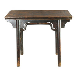 EuroLux Home - Consigned Antique Chinese Wine Table Half Table Accent - Product Details