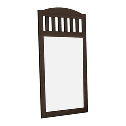 South Shore - South Shore Newton Shaker Style Wall Mirror in Moka Finish - South Shore - Mirrors - 2779120 - A Shaker-style wall mirror whose decorative laths reflect the pattern of the headboard. Also available in Natural Maple finish.