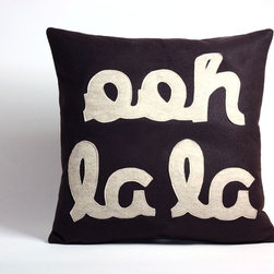 Ooh La La Pillow by Alexandra Ferguson - If you like your Francophile accessories more funky than froufrou, try this felted cushion.