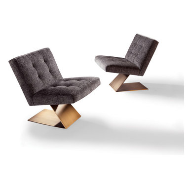 Z Armless Lounge Chair by Milo Baughman from Thayer Coggin -