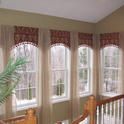 Eye on Design - Atrium Window Treatment over Stairwell -