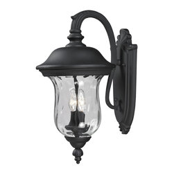 Z-Lite - Z-Lite 534M-BK Z-Lite 534M-RBRZ Bronze Armstrong 2 Light Outdoor Wall Sconce wit - Z-Lite 534 Armstrong Outdoor Sconce Armstrong Outdoor SconceTraditional charm emanates from this outdoor wall mount fixture, which includes clear water