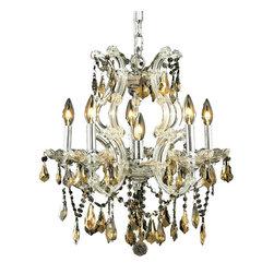 Elegant Lighting - Elegant Lighting 2801D20C-GT/RC Maria Theresa Collection Hanging Fixture - Elegant Lighting 2801D20C-GT/RC Maria Theresa Collection Hanging Fixture