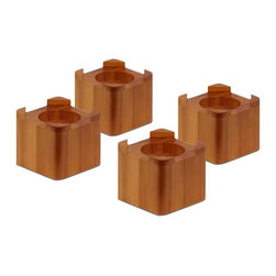 Honey Can Do - Light Finish Wood Bed Lifts - Set of 4 - Set of 4. Light Finish Wooden Bed lifts. Holds 300 lbs.. Fits most bed frames. Each bed lift adds 3.5 in. height. 3.8 in. H x 4.25 in. W x 4.25 in. D