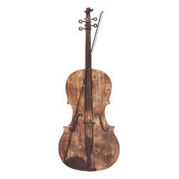 "Benzara - Wall Decor with Raw Wooden Finish and Modern Decor - A perfect instrument depicting calmness and soulful music, this violin decor is made up of sturdy wood and metal to impart a long life. Hang it in your music room, office space for a relaxed ambience or in your living room for that artistic effect. Give your love for music and violin a new definition by hanging this violin design wall decor in the favorite corner of your room. This renders it durable for years without losing its charm. Every minute detail has been attended to the last finish. Embraced with raw wooden finish, it offers a soothing combination of dark brown and light wood color finish that blends perfectly against any wall backdrop. It offers a complete look to your wall and is noticeable from a distance.; Suits conventional and modern decor; Durable and long lasting; High quality wood & metal; Elegant finish with sturdy design; Weight: 2.49 lbs; Dimensions:14""W x 1""D x 36""H"