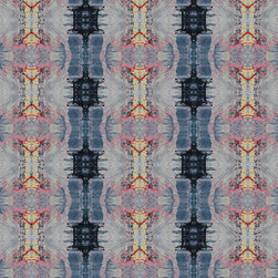 Fabric - 718 navy red.  Available in various fabrications for sale by the yard and swatch.