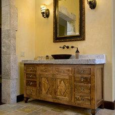 Mediterranean Bathroom Countertops by Ancient Surfaces